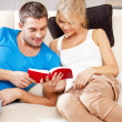 Happy couple at home — Stock Photo #12619866
