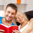 Happy couple at home — Stock Photo #12619886