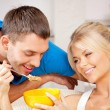 Happy couple at home — Stock Photo #12619929
