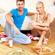 Romantic couple having dinner — Stock Photo #12619932