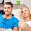 Happy couple at home — Stock Photo #12640154