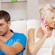 Couple with cellphone — Stock Photo #12640244