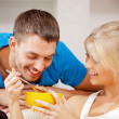 Happy couple at home — Stock Photo #12640502