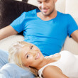 Happy couple at home — Stock Photo #12664434