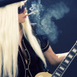 Rock babe - Stock Photo