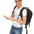 Travelling student - Stock Photo