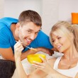 Happy couple at home — Stock Photo #12885455