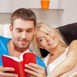 Happy couple at home — Stock Photo #12953066