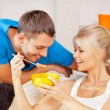 Happy couple at home — Stock Photo #12953478