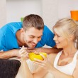 Happy couple at home — Stock Photo #13181000