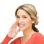 女性のゴシップ ウィスパ リング — ストック写真