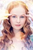 Vacker kvinna — Stockfoto