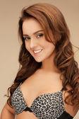 Beautiful woman in bra — Стоковое фото