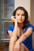 Calm and serious woman — Stock Photo