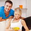 Happy couple at home — Stock Photo #13467476