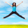 Royalty-Free Stock Photo: Jumping sporty girl