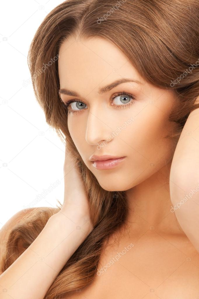 Bright picture of beautiful woman with long hair  Stock Photo #13516737
