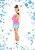 Instructor de fitness con salto de cuerda — Foto de Stock