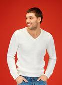 Hombre guapo caliente suéter — Foto de Stock