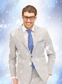 Happy businessman in spectacles — Stock Photo