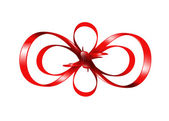Red bow isolated on white background — Stock Photo