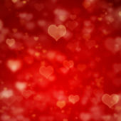 Red background with hearts — Stok fotoğraf