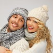 Family couple in a winter clothes — Stock Photo #16641657