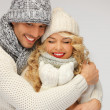 Family couple in a winter clothes — Stock Photo #16797923