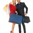 Man and woman with shopping bags — Stock Photo #17140113