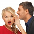 Man and woman spreading gossip — Stock Photo #17165607