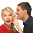 Man and woman spreading gossip — Stock Photo #17701711