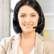 Friendly female helpline operator — Stock Photo #18059949
