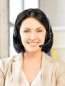 Vriendelijke vrouwelijke helpline exploitant — Stockfoto