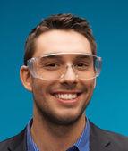 Geschäftsmann in schutzbrillen — Stockfoto