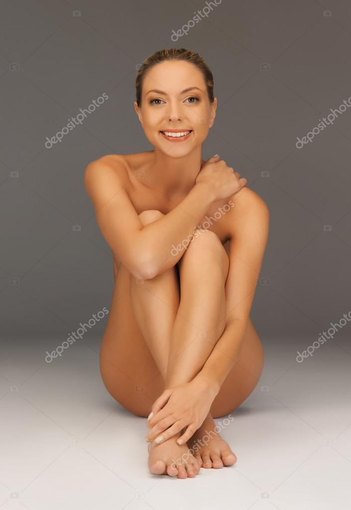 Picture of healthy naked woman over white — Stock Photo #18548991