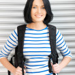 Woman with bagpack — Stock Photo