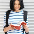 Woman with bag and book — Stock Photo #18725463