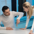 Man and woman working with something — Stock Photo #18759765