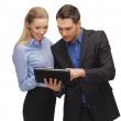 Man and woman with tablet pc — Stock Photo #18900239