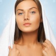Beautiful woman in towel — Stock Photo #19167803