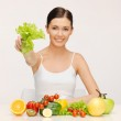 Woman with fruits and vegetables — Stock Photo #19168631