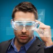 Businessman with digital glasses — Stock Photo #19256035