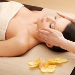 Beautiful woman in massage salon — Stock Photo #19732135