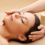 Beautiful woman in massage salon — Stock Photo #19732155