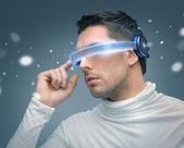 Man with futuristic glasses — Foto de Stock
