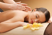Beautiful woman in massage salon — Stock Photo