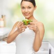 Woman with salad — Stock Photo #19816767
