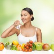 Woman with healthy food — Stock Photo #19816925