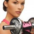 Woman with dumbbells — Stock Photo #20011533