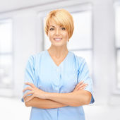 Attractive female doctor — Stock Photo